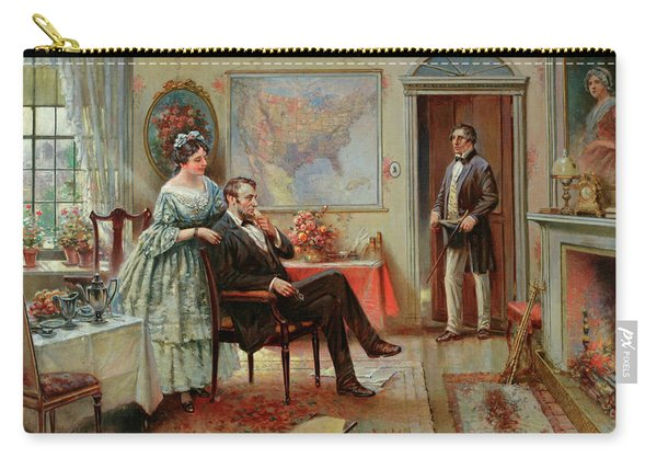 Abe And Mary Todd Lincoln Carry-all Pouch