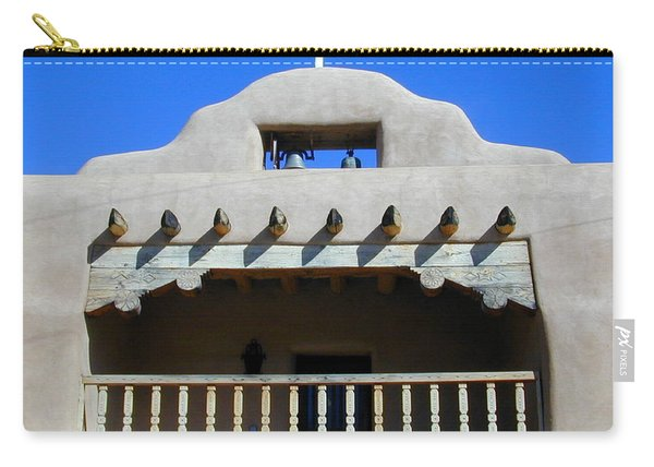 Carry-all Pouch featuring the photograph Abiquiu Church Number 2 by Joseph R Luciano