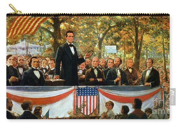 Abraham Lincoln And Stephen A Douglas Debating At Charleston Carry-all Pouch