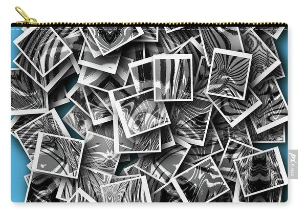Carry-all Pouch featuring the digital art Abraxas Collage by Visual Artist Frank Bonilla