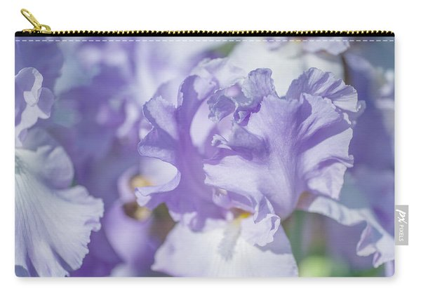 Absolute Treasure Closeup. The Beauty Of Irises Carry-all Pouch