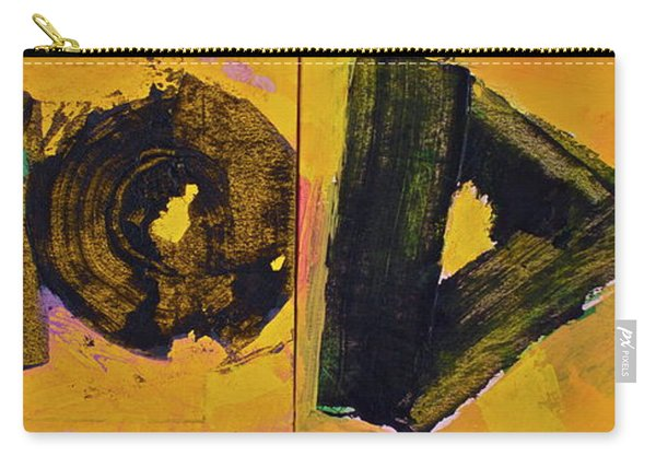 Carry-all Pouch featuring the painting Abstract 2071-diptych by Cliff Spohn