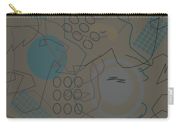 Abstract 8 Brown Carry-all Pouch