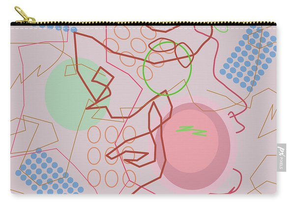 Abstract 8 Pink Carry-all Pouch