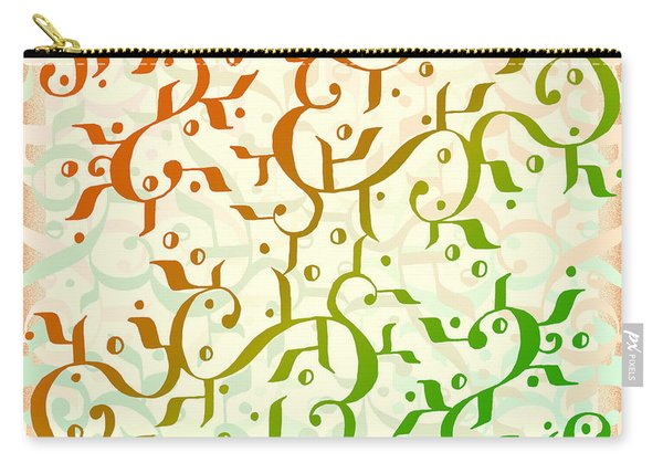 Abstract Arabic Pattern Carry-all Pouch
