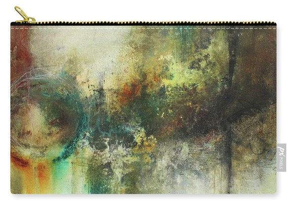 Abstract Art With Blue Green And Warm Tones Carry-all Pouch