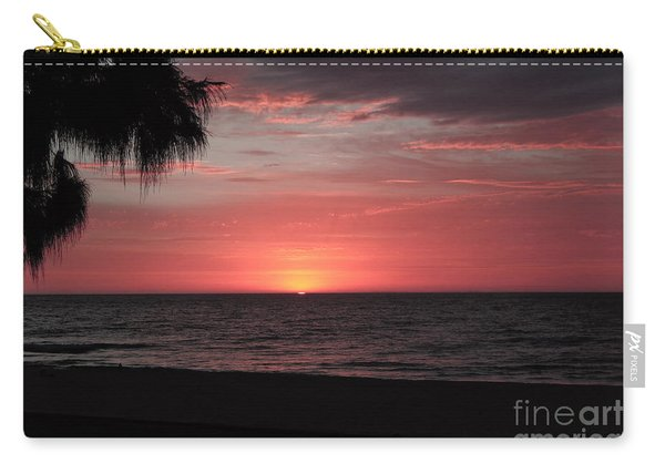 Abstract Beach Palm Tree Sunset Carry-all Pouch
