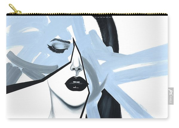 Abstract Blue Woman Portrait Carry-all Pouch