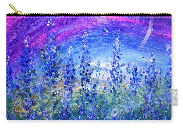Abstract Bluebonnets Carry-all Pouch