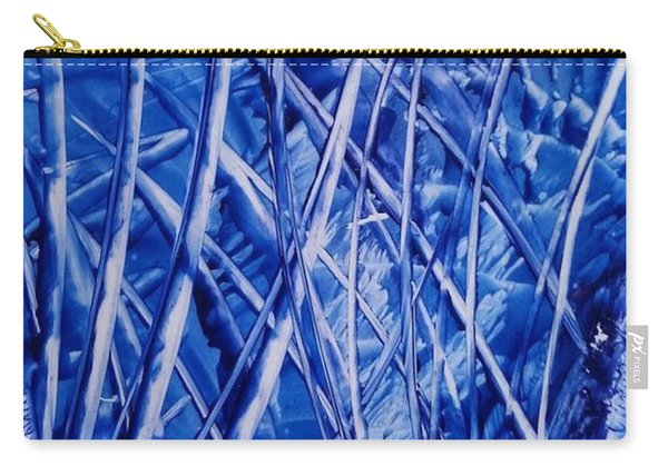 Abstract Blues Encaustic Carry-all Pouch