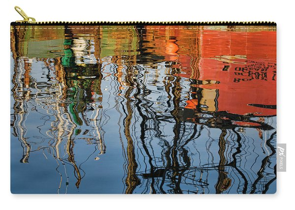 Abstract Boat Reflections Iv Carry-all Pouch