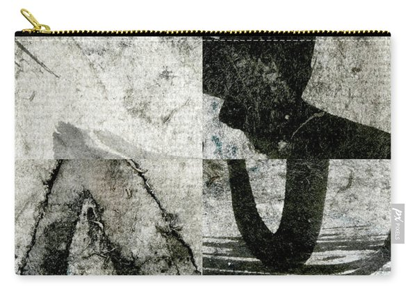 Abstract Calligraphy Collage 2 Carry-all Pouch