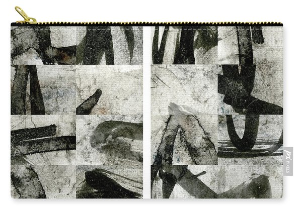 Abstract Calligraphy Collage Diptych Carry-all Pouch