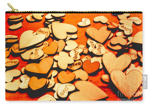 Abstract Collective Connection Carry-all Pouch