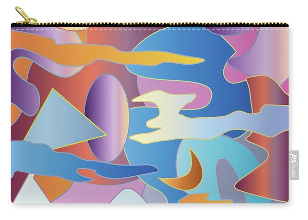 Abstract Colorful Sky Tones Dawn Sunset Daylight Evening Carry-all Pouch