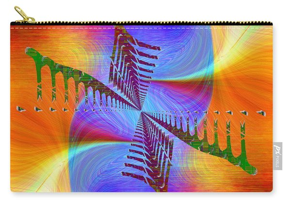 Abstract Cubed 372 Carry-all Pouch