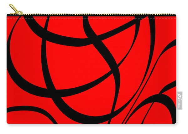 Abstract Design In Red And Black Carry-all Pouch