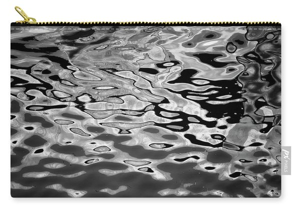 Abstract Dock Reflections I Bw Carry-all Pouch
