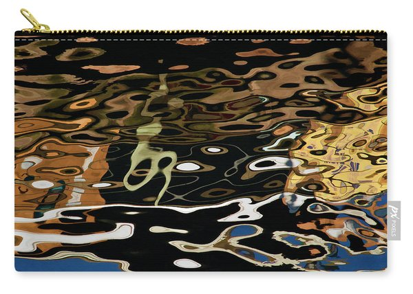 Abstract Dock Reflections II Color Sq Carry-all Pouch