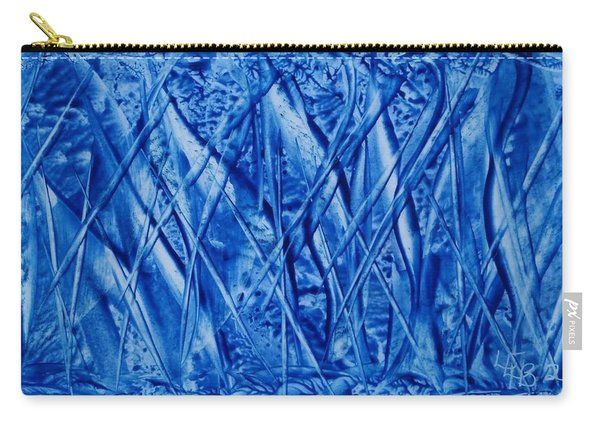 Abstract Encaustic Blues Carry-all Pouch