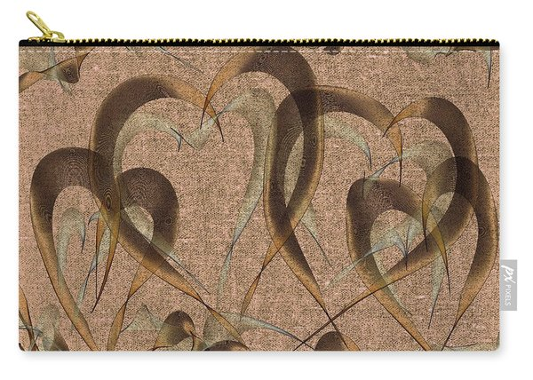 Abstract Floating Hearts Carry-all Pouch