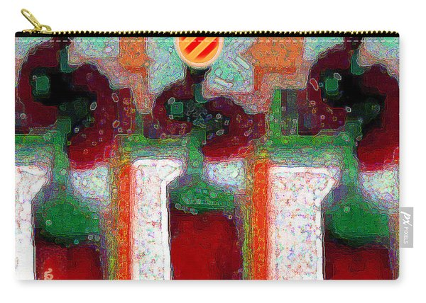Abstract Floral Art 211 Carry-all Pouch