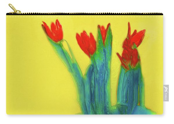 Abstract Floral Art 345 Carry-all Pouch