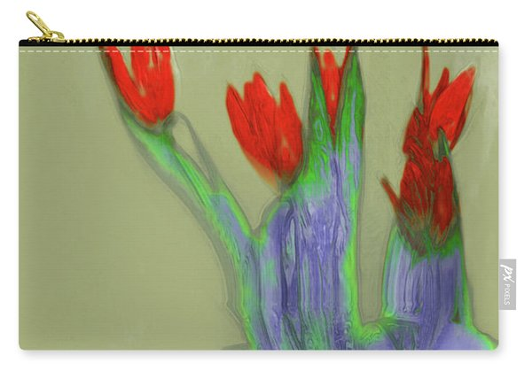 Abstract Floral Art 346 Carry-all Pouch