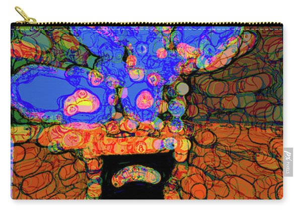 Abstract Floral Art 77 Carry-all Pouch