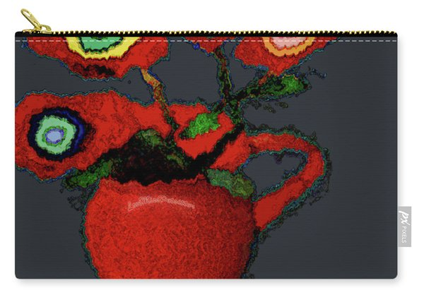 Abstract Floral Art 90 Carry-all Pouch