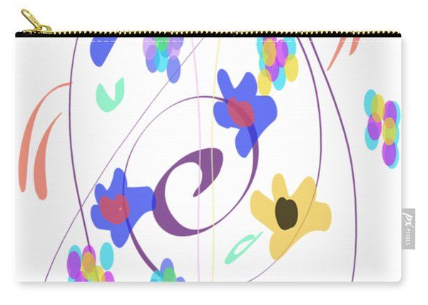 Abstract Garden Nr 7 Naif Style Carry-all Pouch