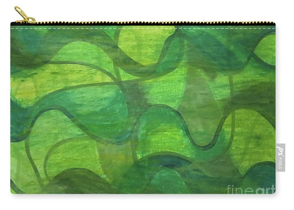 Abstract Green Wave Connection Carry-all Pouch