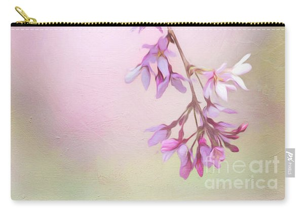 Abstract Higan Chery Blossom Branch Carry-all Pouch