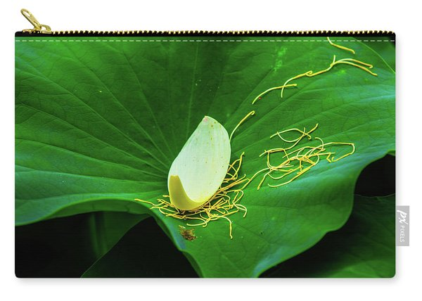 Abstract Leaves Of Green And Yellow Carry-all Pouch