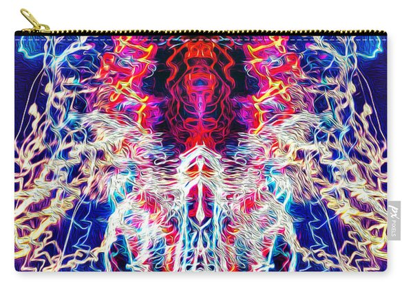 Abstract Lightpainting Oil Style Unique Poster Image Carry-all Pouch