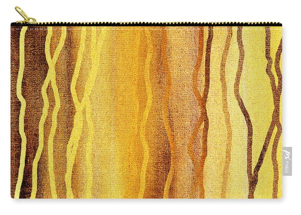 Abstract Lines In Beige Carry-all Pouch