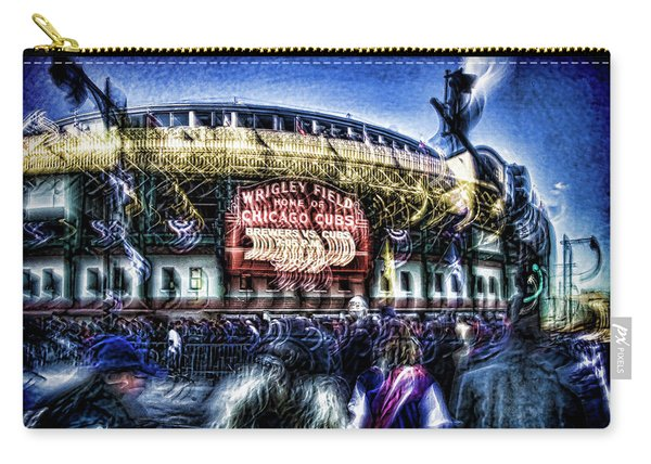 abstract look at the crowd filing in for a Cub's game Carry-all Pouch