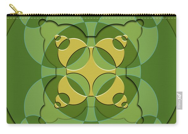 Abstract Mandala Green, Yellow And Laght Green Pattern For Home Decoration Carry-all Pouch