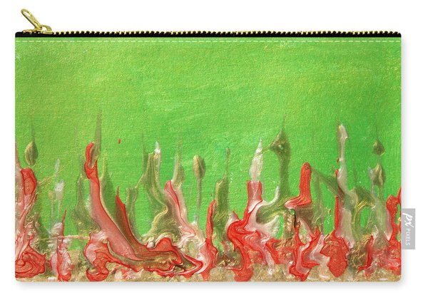 Abstract Mirage Cityscape In Green Carry-all Pouch