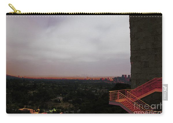 Abstract Mixed Media Getty View Los Angeles California  Carry-all Pouch