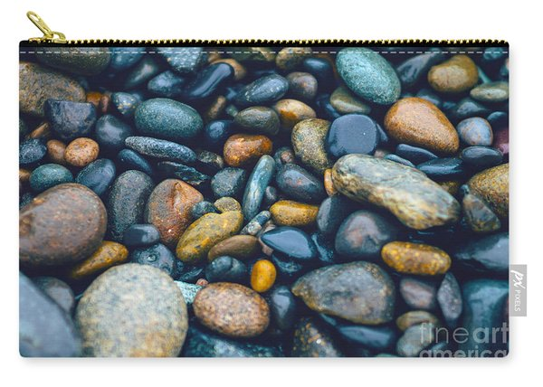 Abstract Nature Tropical Beach Pebbles 923 Blue Carry-all Pouch