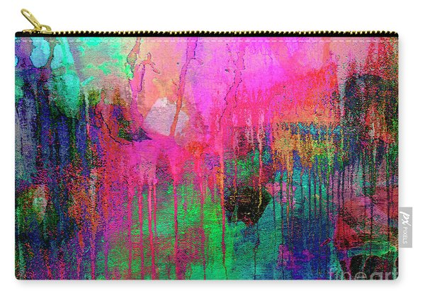 Abstract Painting 621 Pink Green Orange Blue Carry-all Pouch