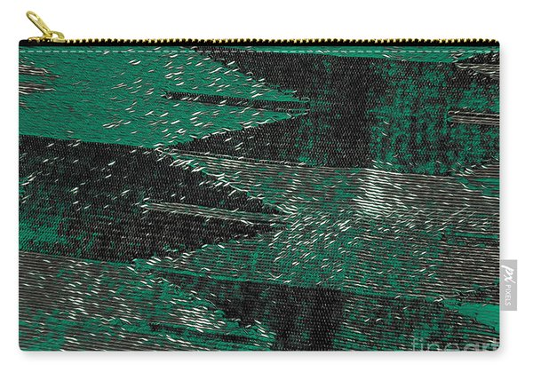 Abstract Pattern No.11 Green And Black Carry-all Pouch