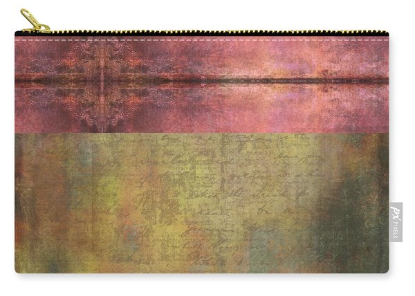 Abstract Pink And Green Metallic Rectangle Carry-all Pouch