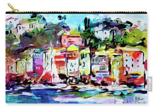 Abstract Portofino Italy Art  Carry-all Pouch