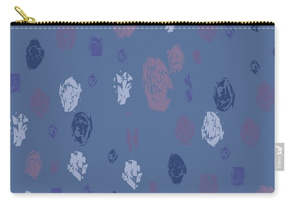Abstract Rain On Blue Carry-all Pouch