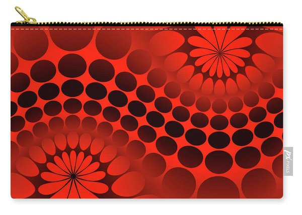 Abstract Red And Black Ornament Carry-all Pouch