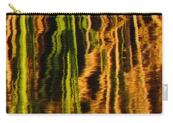 Abstract Reeds Triptych Middle Carry-all Pouch