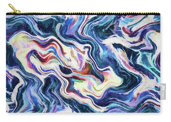 Abstract - Reefs And Shoals Carry-all Pouch