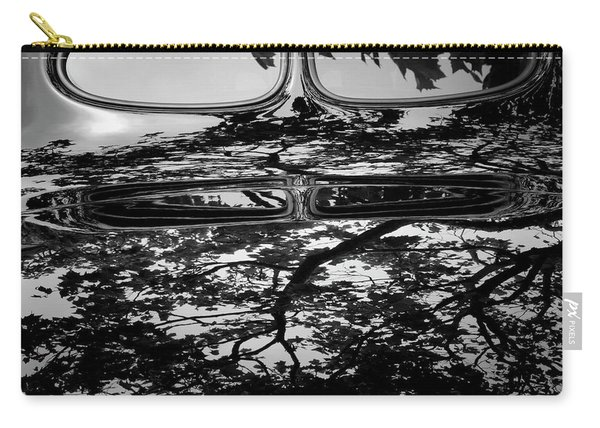 Abstract Reflection Bw Sq II - Vehicle Carry-all Pouch